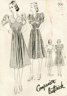 Companion Butterick 8306 | ca. 1939 Dress