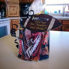 The motivational treat I made for my sons football team the Syracuse Storm for their game against the Clearfield Thunder.  'ROLO'ver the Thunder and SKOR!!