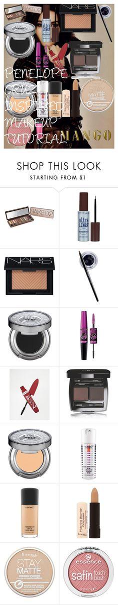 PENELOPE CRUZ INSPIRED MAKEUP TUTORIAL by oroartye-1 on Polyvore featuring beauty, MAC Cosmetics, NARS Cosmetics, Urban Decay, Chanel, Maybelline, Rimmel, Beauty Rush and MANGO