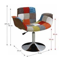 Modern karosszék állítható, patchwork mintás - PATCHWORK Chair, Modern, Furniture, Home Decor, Scrappy Quilts, Trendy Tree, Decoration Home, Room Decor, Home Furnishings