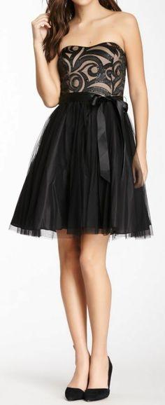 Onyx Sweetheart Tulle Dress ღ