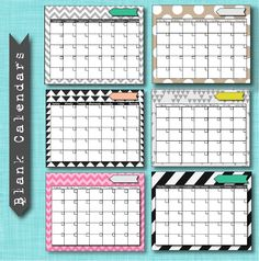 FREE blank-calendar printableS. Can link to lots of other very cute printable pictures