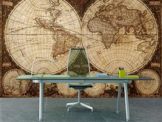 Eazywallz  - Old map Wall Mural, $119.00 (http://www.eazywallz.com/old-map-wall-mural/)
