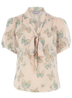 butterfly bow blouse