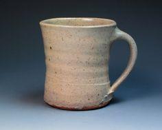 Warren MacKenzie Signed Stoneware Mug, Hand Thrown Studio Pottery, St Ives Leach Pottery Apprentice.
