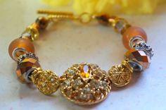 Swarovski bracelet vintage jewelry by DakotaDesignsbyVicki on Etsy