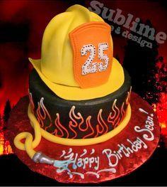 fireman retirement cake | ... parties cupcakes galore cakes cupcakes cookies cake ideas cake