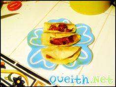 Tacos de chorizo con queso. :9