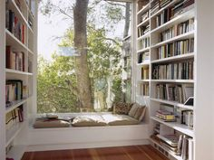 Home Library DesignYou can find Reading corners and more on our website.Home Library Design Home Library Design, Family Room Design, Dream Home Design, My Dream Home, Home Interior Design, House Design, Library Ideas, Library Room, Library Organization