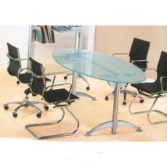 Best Conference Table And Chairs Images On Pinterest Desk - Oval glass conference table