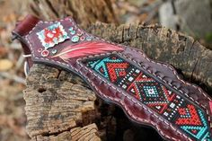 Hand Painted, Hand Beaded Breastcollar Set, Aztec, Candy Rock Conchos