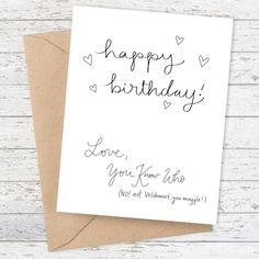 You Know Who Birthday Card