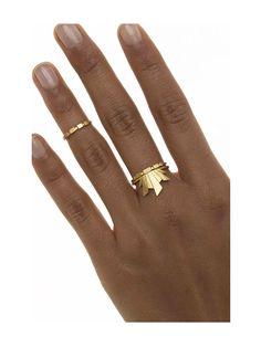 Maria Black Frey Gold Ring, Danish Jewellery Designer, wild-swans.com