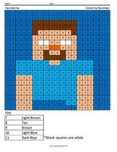 Herobrine Minecraft Coloring page