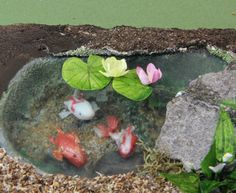 Make Water Lilies in Dollhouse Miniature and Model Scales from Paper and Paint