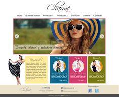 Maqueta de Sitio Web para Charme Sportiff
