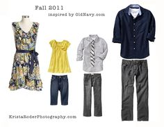 dress one person in a colorful pattern, pull solid colors from the pattern for everyone else
