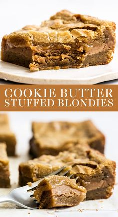 Homemade Desserts, Easy Desserts, Delicious Desserts, Dessert Recipes, Easy Dessert Bars, Cake Recipes, Speculoos Cookie Butter, Butter Cookies Recipe, Homemade Cookie Butter