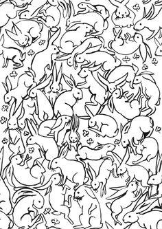 Bunny Pattern. £8.00, via Etsy.