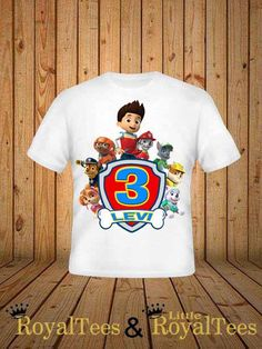 Paw Patrol Birthday Shirt by customroyaltees on Etsy