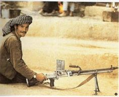 Afghan guerrilla with ZB-26 machine gun - pin by Paolo Marzioli