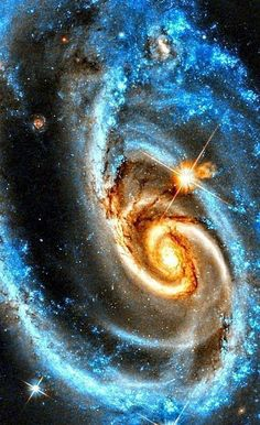 What's happening to this spiral galaxy? Although details remain uncertain, i. - What's happening to this spiral galaxy? Although details remain uncertain, i. Planets Wallpaper, Wallpaper Space, Galaxy Wallpaper, Space Planets, Space And Astronomy, Cosmos, Spiral Galaxy, Hubble Space Telescope, Galaxy Art