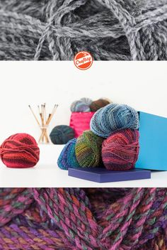 Machine-washable and wonderfully colorful, what's not to love about Marble Chunky? This versatile James C. Brett yarn offers a generous 341 yards per skein for fun scarves, sweaters, hats & more!