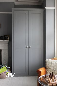 Fitted wardrobe with shaker doors, This alcove wardrobe made in line with existi. Fitted wardrobe with shaker doors, This alcove wardrobe made in line with existing picture rail and Alcove Wardrobe, Bedroom Built In Wardrobe, Painted Wardrobe, Fitted Bedroom Furniture, Bedroom Furniture Online, Fitted Bedrooms, Diy Wardrobe, Built In Furniture, Wardrobe Design