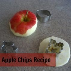 Try making a great on-the-go snack by making apple chips.