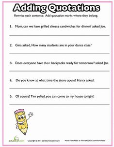 Worksheets Integrating Quotes Worksheet 1000 images about commas quotation marks on pinterest anchor charts music videos and rules