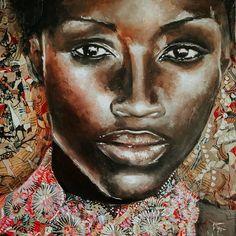 """Gill Douglas on Instagram: """"I have been so inspired by the kaleidoscope that is West Africa, the colours, climate, vibrancy, noise and intensity of it all.... I was…"""" Contemporary African Art, Contemporary Paintings, West Africa, African Women, Ghana, Mixed Media Art, Collage Art, My Arts, Colours"""