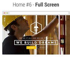 We Build - Construction, Building WP Theme - WordPress Construction Business, Premium Wordpress Themes, Homescreen, Modern Design, Make It Yourself, Writing, Building, Life, Contemporary Design