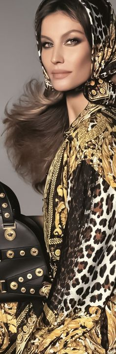 FrenchEconomie™️ Spring/Summer 2018 Latest Women's Fashion: Versace Haute Couture Runway Fashion Show Spring-Summer 2018 1990 Style, Christian Dior, Marlene Hose, Animal Print Fashion, Animal Prints, Gisele Bündchen, Vogue, Glamour, Foto Art