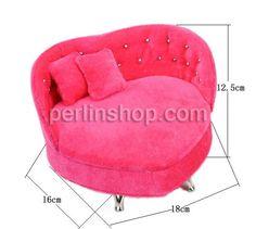 Baumwollsamt Schmuckset Kasten, Sofa, Rosa, 180x160x125mm