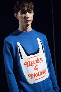 'Thanks 4 nothing' backstage at Christopher Shannon AW15 LCM. See more here: http://www.dazeddigital.com/fashion/article/23132/1/christopher-shannon-aw15-mens