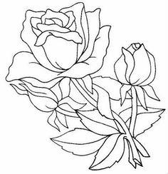 Pintura em Tecido Passo a Passo: Riscos de rosas para pintura em tecido