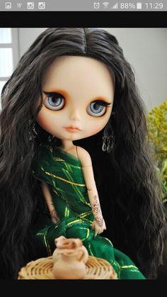 Blythes dolls cabellos oscuros
