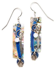 Silver Forest Abalone Shell Dangle Drop Earrings Ne-0247 >>> Be sure to check out this awesome product. (This is an affiliate link) #Jewelry