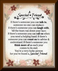 I have a special friend and I will never her let her go she is the bestest thing that has ever happened to me