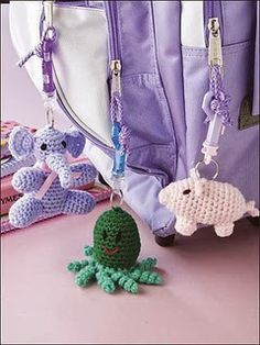 Free Crochet Patterns: Free Crochet Keychain Patterns, key ring patterns, crochet, free pattern, back pack charm