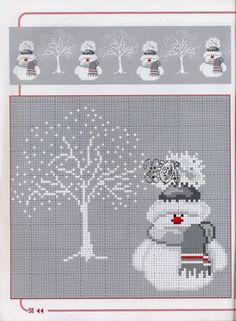 Snowman cross-stitch
