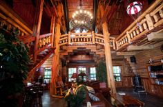 Spectacular Entry Hall in Kirkland Kastle, Canton, TX - Exterior of self-designed log home home, hand-built from Texas Timber by Gerald Kirkland. Photo 2