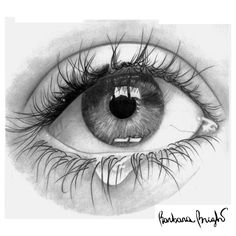 by Barbara Bright Cry Drawing, Painting & Drawing, Drawing Faces, Pencil Art, Pencil Drawings, Portrait Au Crayon, Pencil Portrait, Realistic Eye Drawing, Wow Art