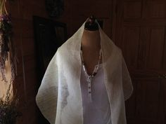 Hand-Woven Lithuania Linen & Hemp Shawl/Scarf - pinned by pin4etsy.com