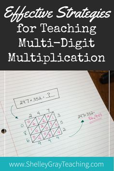 effective strategies for multi-digit multiplication - what should we teach first? How can we teach so that students best understand multi-digit multiplication?