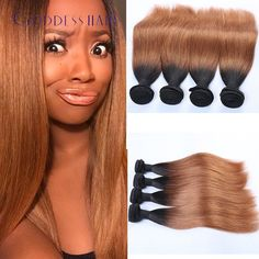 182.00$  Watch here - http://aliuez.worldwells.pw/go.php?t=32673125595 - New malaysian virgin hair 4 bundles grade 7a unprocessed virgin hair 4bundles weave bundles ombre black root color 4bundle deals 182.00$