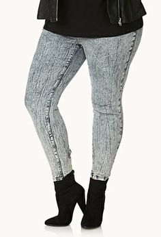 Got it! (Forever 21+ Forever Cool Zippered Skinny Jeans)