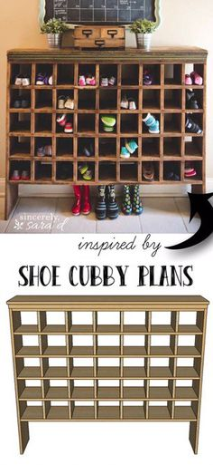 Build A Rustic Mail Order Shoe Cubby Organiser – A Website For All The Ideas You Will Ever Need