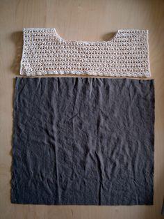 Crochet & T-shirt - Tutorial ❥ 4U hilariafina http://www.pinterest.com/hilariafina/