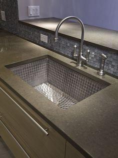 Hoboken, NJ - modern - kitchen - new york - Urban Homes - Innovative Design for Kitchen & Bath Kitchen Sink Countertop, Corner Sink Kitchen, Kitchen Sink Design, Modern Kitchen Design, Kitchen And Bath, Kitchen Decor, Kitchen Ideas, Kitchen Designs, Contemporary Kitchen Sinks